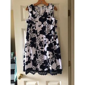 Floral dress stretch material 16p